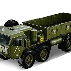 1:12 Scale Large US Military Truck 2.4G fessional Remote Control Car 8WD Strong Horsepower Off Road RC Army Vehicle Rechargeable High Simulation Military Truck Model (Color : Green)